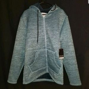 Straight Faded zip up sweater